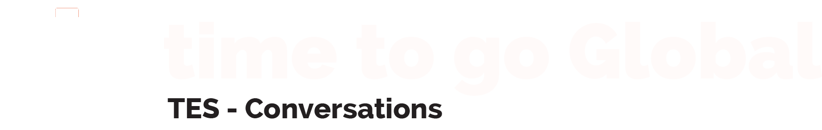 Time To Go Global Logo